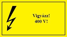 É.14 Vigyázz 400 V!